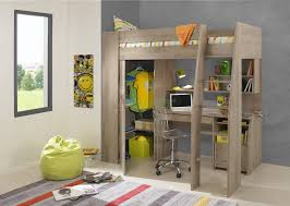 Kids Bed With Bookshelf Timber Kids Loft Bunk Beds With Desk Closet Gautier Gami