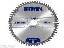 irwin metal cutting blade. irwin pro metal cut circular saw blade 216mm x 30mm 60 teeth tct tcg 1907777 cutting