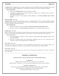 Driller Resume Example Epic Example of a Oilfield Consultant Resume Sample 2