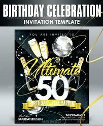 50th birthday invitation templates free 50th birthday template birthday invitation templates free download