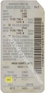Nissan Paint Code Locations Touch Up Paint Automotivetouchup