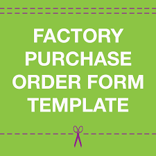 Po Form Template Offshore Garment Manufacturing Purchase Order Form Template Source 19