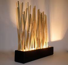 bamboo mood lamp modern japanese style tabletop led accent lighting accent lighting ideas