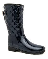 Hunter | Navy Original Short Refined Quilted Gloss Boot | Boots ... & Hunter | Navy Original Short Refined Quilted Gloss Boot | Boots | Shoes Adamdwight.com