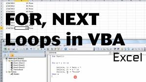 Excel Vba Basics 3 Using For And Next With Variable Using