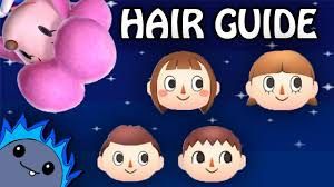 New Leaf Hair Color Chart Hair Guide Animal Crossing New Leaf