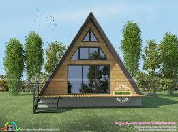 Design Low Cost Unique Looking Low Cost House With Mezzanine Floor Kerala