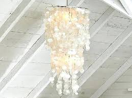 capiz shell lighting chandelier