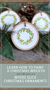 Simple Christmas Designs To Paint Learn How To Paint Your Own Hand Painted Christmas Wreath