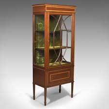 english antique display cabinet. Antique Glazed Display Cabinet, Mahogany, Edwardian, English C.1910 (1 Of Cabinet A