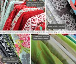 Fabric Width Yardage Conversion Chart Sew4home