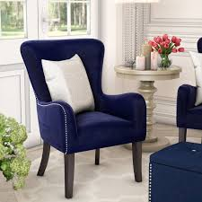 velvet accent chair. Navy Blue Velvet Accent Chair Wayfair In Designs 7
