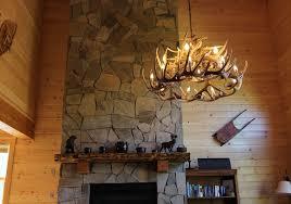 antler chandelier in the great room