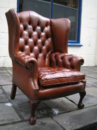 high back leather chairs. The Special High Back Georgian Leather Wing Chair With Straight Legs Chairs