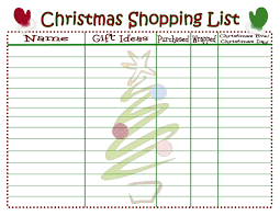 shopping lists christmas shopping list printable mom on timeout