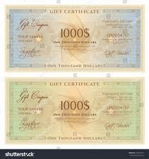 Money Voucher Template Gift Certificate Voucher Template