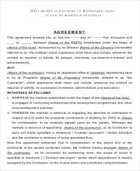 sample contract agreement contract agreement format sample 9 examples in word pdf