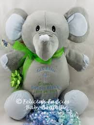 baby christening gifts personalized elephant stuffed