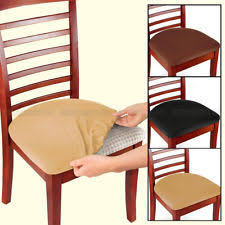 dining chair seat covers. 2/4/6 Pcs Removable Elastic Stretch Slipcovers Dining Spandex Chair Seat Cover Covers