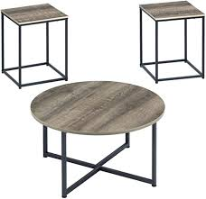 The faux marble top has a protective finish making it a smart choice for busy families. Amazon Com Signature Design By Ashley Ashley Furniture Signature Design Wadeworth Occasional Table Set Set Of 3 Distressed Style Two Furniture Decor