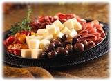 antipasto with provolone