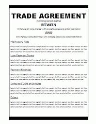 Agreement Templates | Free Word Templates