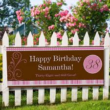 Happy Birthday Banners Personalized Personalized Birthday Banner Womens Floral Design