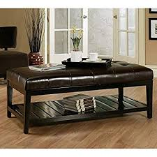 Image Wayfair Amazoncom Bistro Coffee Tables Leather Ottoman Rectangle Wood Cocktail Living Room End Table Modern Furniture Kitchen Dining Amazoncom Amazoncom Bistro Coffee Tables Leather Ottoman Rectangle Wood