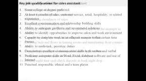 Sales Resume Retail Manager Job Description Advisor Image
