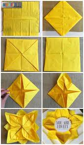 Origami Flower Paper Napkin Origami Flower Paper Napkin Folding With Sunflower Table