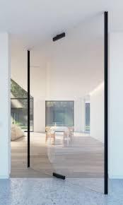 frameless glass pivot interior door