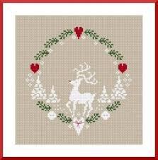 Free Reindeer Chart From Kissy Cross Christmas Xmas Ideas