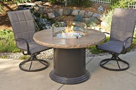 mocha colonial fire pit table dining or pub height swimtown pools