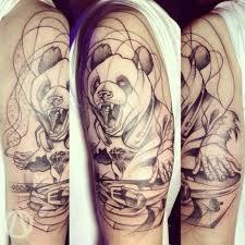 татуировка панда значение эскизы тату и фото