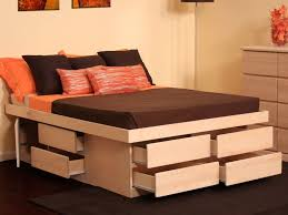 22 photos gallery of diy base queen bed frame with storage