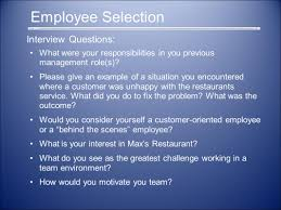 lana bondareva jesse coon andrew hans travis samick wes kwasney employee selection interview questions what were your responsibilities in you previous management role s