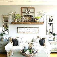 beam shelf above couch in family room farmhouse living wall decor ideas beautiful rooms