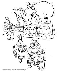 Small Picture Circus Animal Coloring Pages Printable performing circus Circus