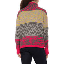 Artisan Ny Size Chart Artisan Ny Red Grey Yellow Fair Isle Pullover Sweater For