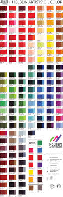 Holbein Oil Colour Chart In 2019 Paint Color Chart Color