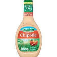 hidden valley farmhouse originals southwest chipotle salad dressing topping gluten free 16 oz bottle walmart