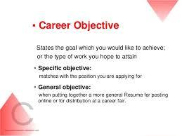 Sample Of Career Objectives For Resume Career Objective Examples For Resume Fungramco 42