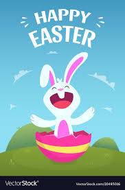 Easter Template Poster Template With Of Easter Rabbit