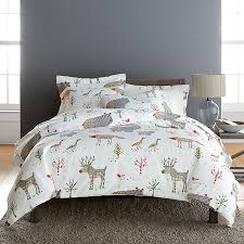 winter forest flannel comforter cover duvet cover and sham
