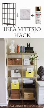 office shelves ikea. Chic Office Ideas Ikea Vittsjo Hack Using Design Shelves