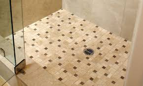 stone bathroom shower pan