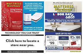 Mattress Warehouse Labor Day Sale