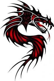 Vektor Tetování červený Drak 49491077 Fotobanka Fotkyfoto