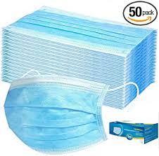 Tukellen <b>50 Pieces Disposable</b> 3-ply Protection Face Cover Dust ...