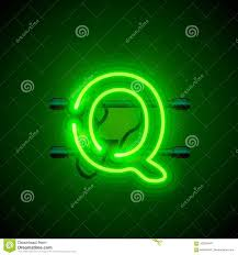 Royalty-Free Vector. Download Neon Font Letter Q ...